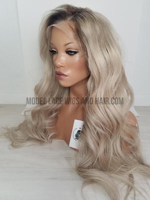 "Custom Ash Blonde Full Lace Wig (Style Name: ""Anastasia"" Item# 5559)"