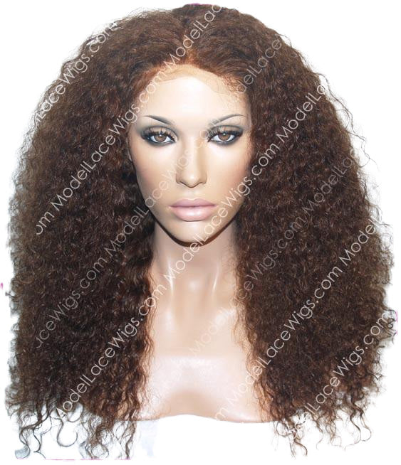 Curly Color #4 Lace Wig by Model Lace Wigs and Hair