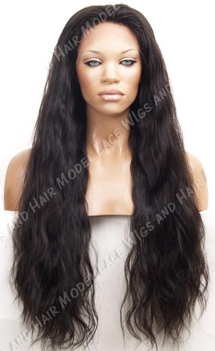 Long Dark Brown Wavy Glueless Lace Front Wig