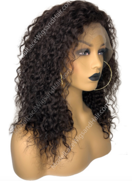Curly Lace Front Wig_ModelLaceWigs