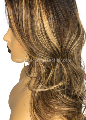 Ready To Wear Lace Front Wig with Highlights (Jaya) Item#: LF4450 HDLW