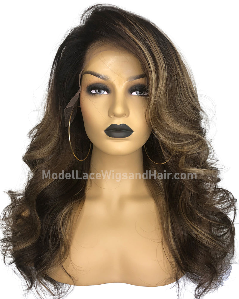 Lace Front Wig with Highlights (Jaya)