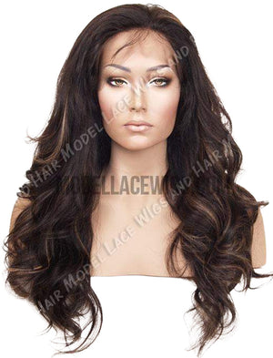 Pre-Styled Full Lace Wig with Highlights (Samuela) Item#: 506