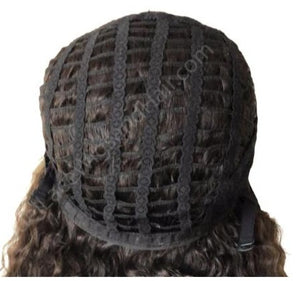 Lace Front Wig Cap with Wefts in Back - Model Lace Wigs and Hair