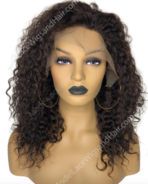 Curly Dark Brown Lace Front Wig by Model Lace Wigs and Hair