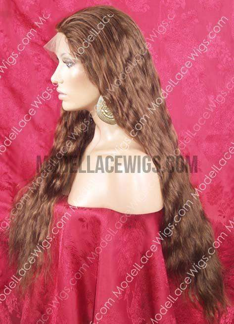 Brown Wavy Full Lace Wig | Model Lace Wigs and Hair