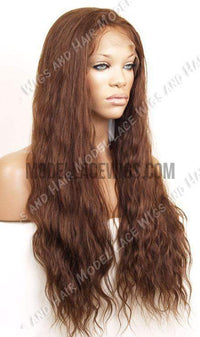 Long Brown Bodywave Full Lace Wig