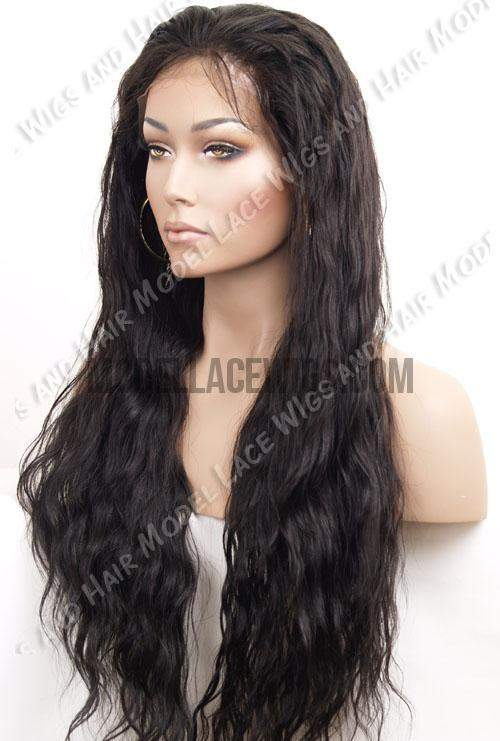 Long Wavy Full Lace Wig | Model Lace Wigs and Hair