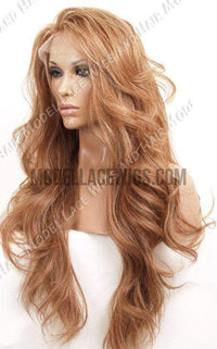 Long Auburn Full Lace Wig | Model Lace Wigs and Hair