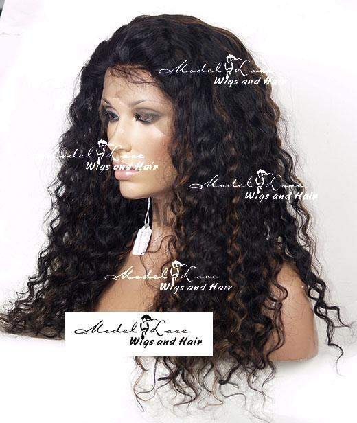 Full Lace Wig (Aster) Item#: 701-Model Lace Wigs and Hair