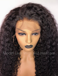 Curly Glueless Lace Front Wig Item#LF557 HDLW