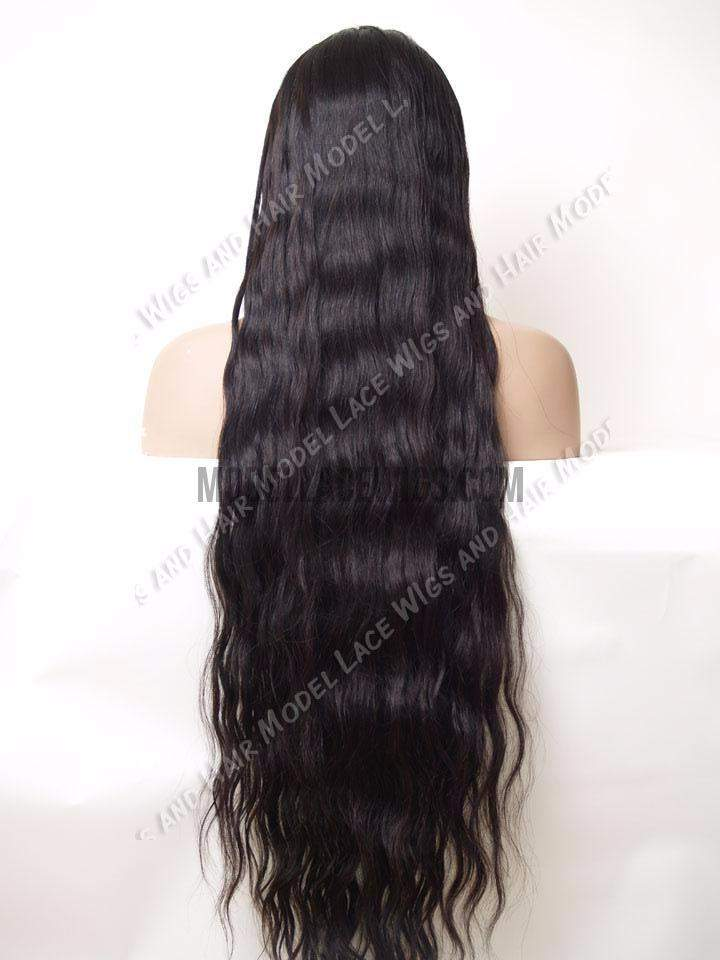 Extra Long Wavy Full Lace Wig | Model Lace Wigs and Hair