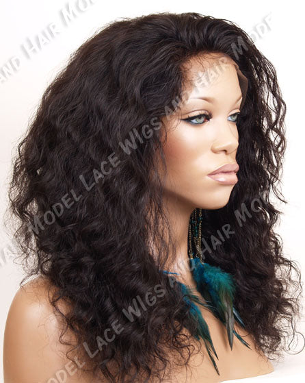 Lace Front and Nape Wig (Afrikah) Item#: FN54-Model Lace Wigs and Hair