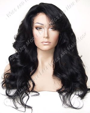 Jet Black Full Lace Wig - Model Lace Wigs and Hair