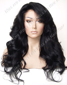 Lace Front and Nape Wig (Audre) Item#: FN66-Model Lace Wigs and Hair