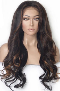 Highlighted Human Hair Lace Wigs | Model Lace Wigs and Hair