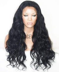 Black Wavy Lace Front Wig