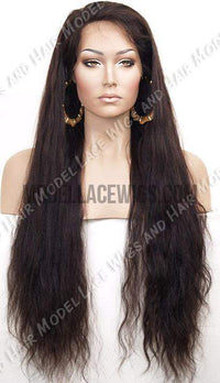 Natural Wave Full Lace Wig | Model Lace Wigs and Hair