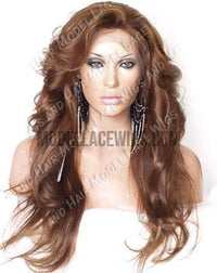 Brown Full Lace Wig | Model Lace Wigs and Hair