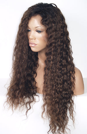 Ombre Spiral Curl Lace Front Wig | Model Lace Wigs and Hair