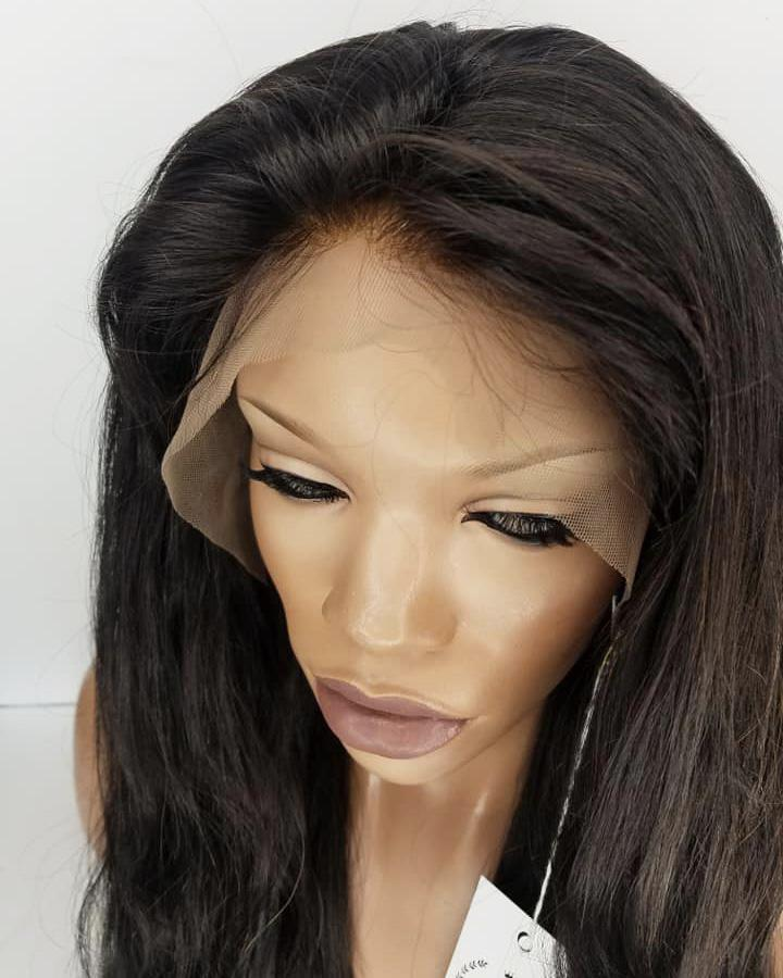 Remy Lace Front Wig with Bleach Knots