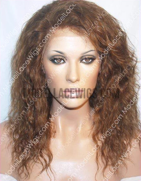 Short Brown Wavy Lace Wig | Model Lace Wigs and Hair
