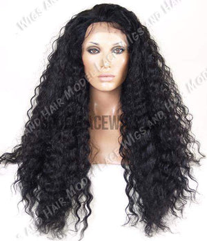 Wavy Black Lace Wig | Model Lace Wigs and Hair