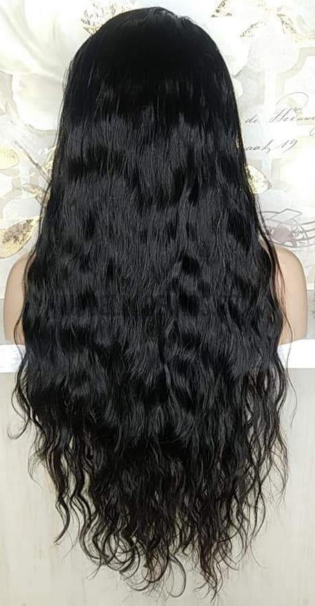 Long Wavy Lace Wig | Model Lace Wigs and Hair