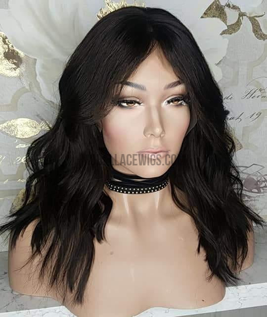 Choppy Wavy Lace Front Wig - Model Lace Wigs and Hair