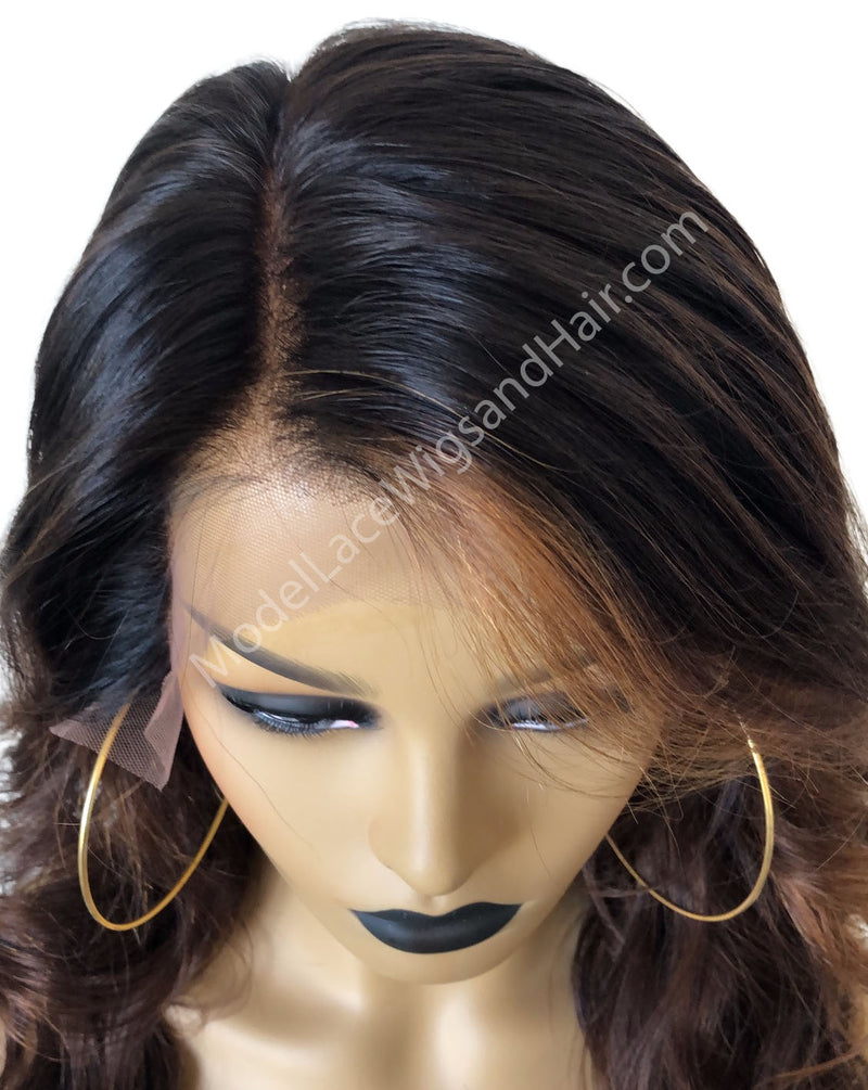 Lace Front Wig with Highlights (Jewel) Item#: LF786 HDLW