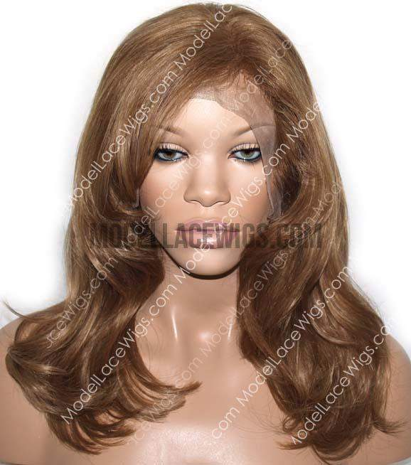 Short Brown Full Lace Wig | Model Lace Wigs and Hair