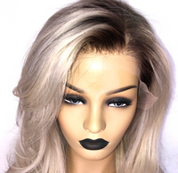 Platinum Blonde Full Lace Wig  - Close up of hairline