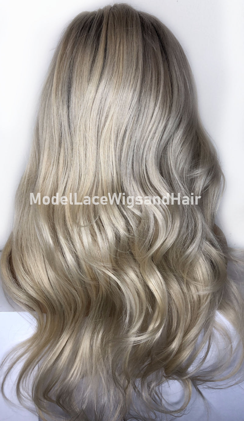 "Ready To Wear Platinum Blonde Full Lace Wig HDLW Item: 4588 | Small Cap 21.5"" -  Ready to Ship Within 24 Hours"