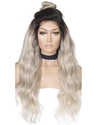 Platinum Blonde Full lace Wig (Ash) Custom Item# 2687