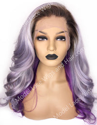 Purple Full Lace Wig | Model Lace Wigs and Hair
