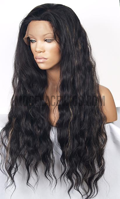 Glueless Lace Front Wig with Highlights (Quinn) Item# 1854 HDLW