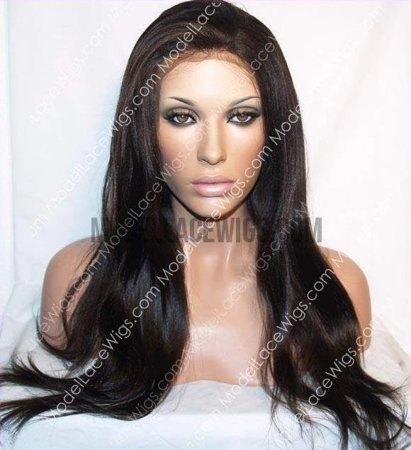 Yaki Straight (African American Relaxed Texture) Full Lace Wig