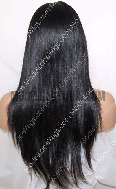Full Lace Wig (Samelle) Silk Top Item#: 980-Model Lace Wigs and Hair