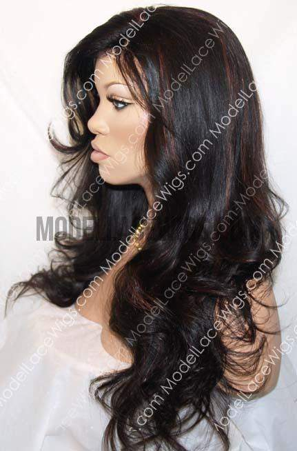 Full Lace Wig With Highlights | Model Lace Wigs and Hair