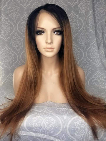 Synthetic Lace Front Wig Two-tone