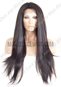 glueless straight lace wig