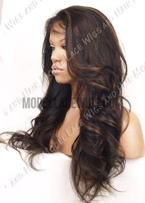 Glueless Full Lace Wig (Willow) Item#: G562-Model Lace Wigs and Hair