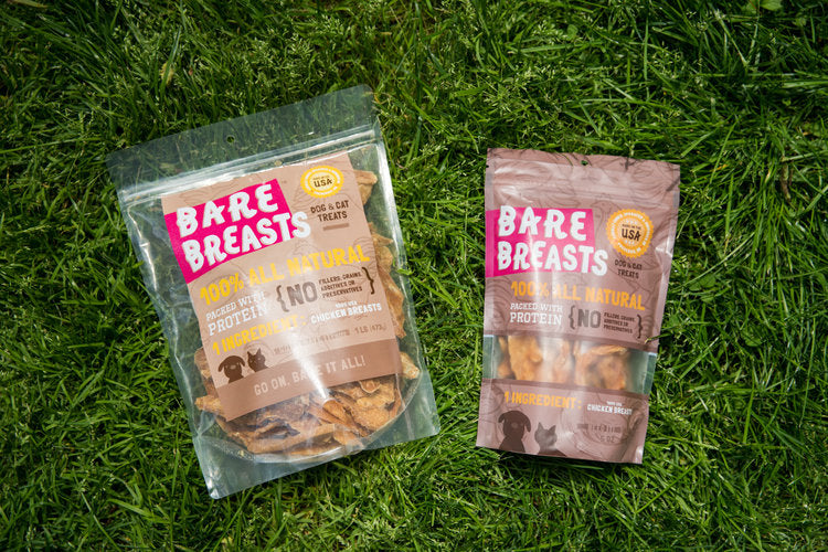 Bare Breasts: Grain Free Dehydrated Chicken Breast Treats for Dogs and Cats