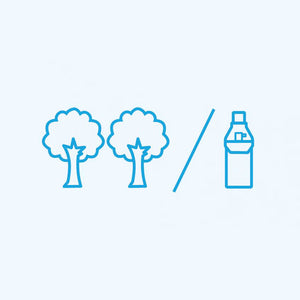 2 trees planted for every bottle we sell
