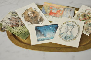 6 POSTCARDS BY YU ITO FOR DRESS UP BOX