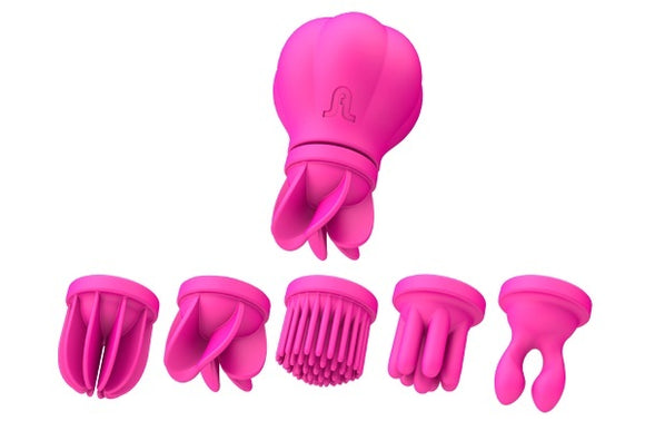 Adrien Lastic Caress Clitoral Massager with 5 Interchangeable Heads