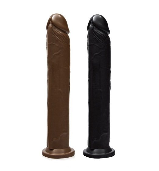 SI Novelties 10 Inch Cock With Suction Base-Caramel