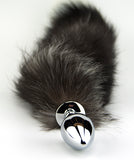 Furry Fantasy Black Fox Tail Butt Plug