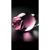 Icicles Romantic Rose Glass Dildo No 12