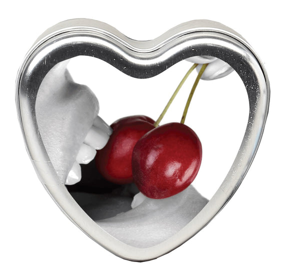 Earthly Body 3 in 1 Edible Massage Heart Candle-Cherry